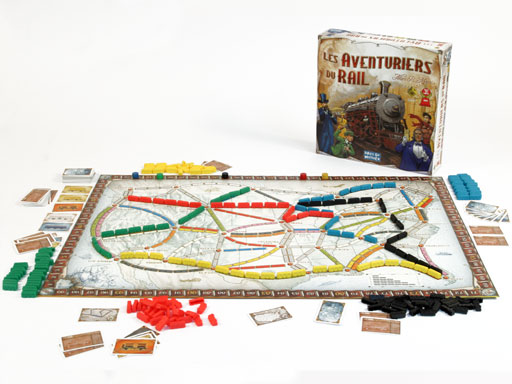 aventuriers du rail boite et jeu