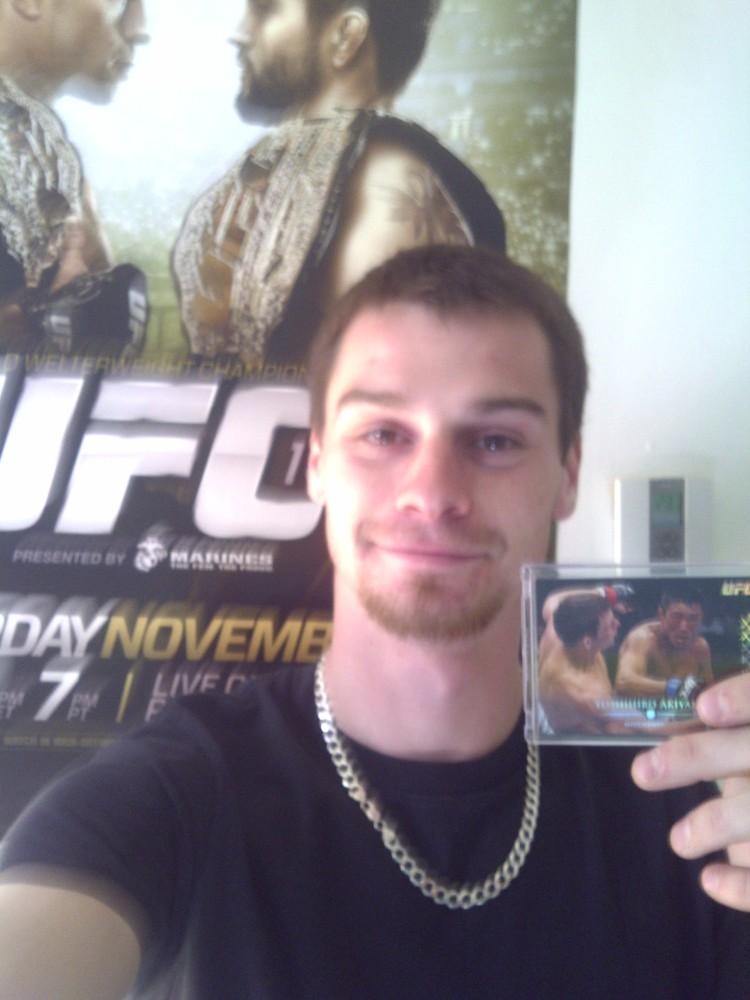 Michael Cloutier et sa carte UFC