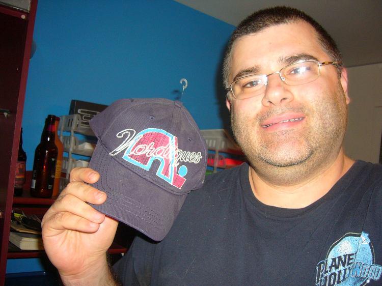Nicolas Vallée et sa casquette